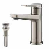 Indy™ Single Handle Bathroom Faucet in Spot Free Stainless Steel with Matching Pop-Up Drain and Overflow