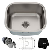 20-3/4'' Undermount Single Bowl 16 Gauge S/S  Kitchen Sink with NoiseDefend™ Soundproofing
