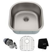 19-3/4'' Undermount Single Bowl 16 Gauge S/S  Kitchen Sink with NoiseDefend™ Soundproofing