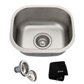 15-1/8' Undermount Single Bowl 18 Gauge S/S Bar Sink with NoiseDefend™ Soundproofing