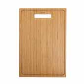 Organic Solid Bamboo Cutting Board for Kitchen Sink, 17-1/2''W x 12''D x 3/4''H