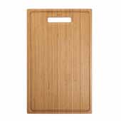 Organic Solid Bamboo Cutting Board for Kitchen Sink, 19-1/2''W x 12''D x 3/4''H