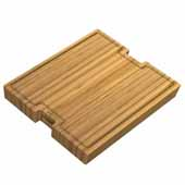 Workstation Kitchen Sink Solid Bamboo Cutting Board/Serving Board, 20-3/4''W x 16-3/4''D x 3/4''H