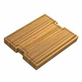 Workstation Kitchen Sink Solid Bamboo Cutting Board/Serving Board, 22-3/4''W x 16-3/4''D x 3/4''H