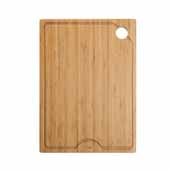 Workstation Kitchen Sink 12'' W Solid Bamboo Cutting Board, 12''W x 16-3/4''D x 3/4''H
