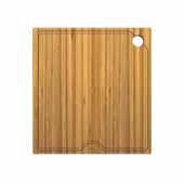 Workstation Kitchen Sink 16'' W Solid Bamboo Cutting Board, 15-3/4''W x 16-3/4''D x 3/4''H