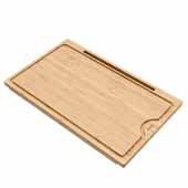 KRAUS Solid Bamboo Cutting Board with Mobile Device Holder for Standard Kitchen Sink or Countertop, 19-1/2'' W x 12'' D x 3/4'' H