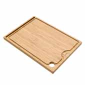 KRAUS Solid Bamboo Cutting Board with Mobile Device Holder for Workstation Kitchen Sink, 16-3/4'' W x 12'' D x 3/4'' H