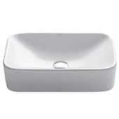White Rectangular Ceramic Sink, 19-1/4'' W x 11-3/4'' D x 5'' H