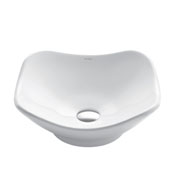 White Tulip Ceramic Sink, 15-1/2'' W x 15-1/2'' D x 6'' H