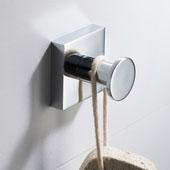 Ventus™ Bathroom Robe and Towel Hook, Chrome Finish, 1-3/4''W x 1-9/16''D x 1-3/4''H