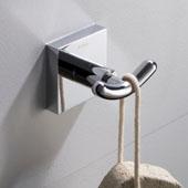 Ventus™ Bathroom Robe and Towel Double Hook, Chrome Finish, 2-5/8''W x 1-15/16''D x 1-3/4''H