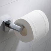 Ventus™ Bathroom Toilet Paper Holder, Chrome Finish, 6-9/16''W x 2-13/16''D x 1-3/4''H