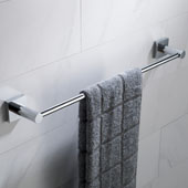 Ventus™ 19'' Bathroom Towel Bar, Chrome Finish