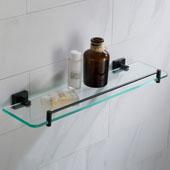 Ventus™ Bathroom Shelf, Matte Black Finish, 19-11/16''W x 5-9/16''D x 1-15/16''H