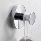 Elie™ Bathroom Robe and Towel Hook, Chrome Finish, 2-1/16'' Diameter x 1-9/16''D