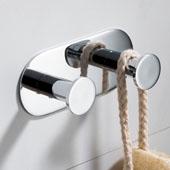 Elie™ Bathroom Robe and Towel Double Hook, Chrome Finish, 4-3/4''W x 1-9/16''D x 1-15/16''H