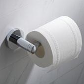 Elie™ Bathroom Toilet Paper Holder, Chrome Finish, 6-3/4''W x 2-1/16''D x 2-7/8''H