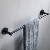 Elie™ 19'' Bathroom Towel Bar, Matte Black Finish, 19-13/16''W x 2-15/16''D x 2-1/16''H