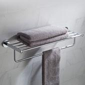 Elie™ Bathroom Shelf with Towel Bar, Chrome Finish, 25-11/16''W x 8-1/8''D x 5-1/2''H