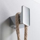 Stelios™ Bathroom Robe and Towel Hook, Chrome Finish, 1''W x 1-3/8''D x 1-5/8''H