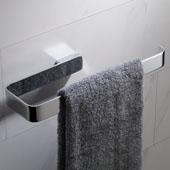 Stelios™ Bathroom Towel Ring, Chrome Finish, 9-11/16''W x 3-3/16''D x 1''H
