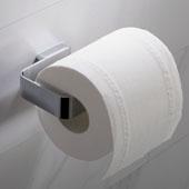 Stelios™ Bathroom Toilet Paper Holder, Chrome Finish, 4-15/16''W x 2-13/16''D x 1''H