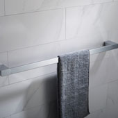 Stelios™ 24-inch Bathroom Towel Bar, Chrome Finish, 25-3/16''W x 2-3/8''D x 1''H