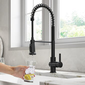 KRAUS Britt™ 2-in-1 Commercial Style Pull-Down Single Handle Water Filter Kitchen Faucet for Reverse Osmosis or Water Filtration System in Matte Black, Faucet Height: 22'' H, Spout Height: 5-3/4'' H, Spout Reach: 8-1/2'' D