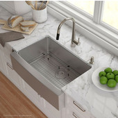 29-3/4'' Farmhouse Single Bowl Kitchen Sink with NoiseDefend™ Soundproofing