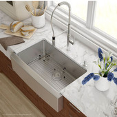 32-7/8'' Farmhouse Single Bowl Kitchen Sink with NoiseDefend� Soundproofing