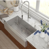 35-7/8'' Farmhouse Single Bowl Kitchen Sink with NoiseDefend™ Soundproofing