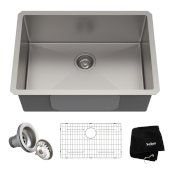 Standart PRO™ 26-inch 16 Gauge Undermount Single Bowl Stainless Steel Kitchen Sink, 26'' W x 18'' D x 10'' H