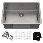 Standart PRO™ 28-inch 16 Gauge Undermount Single Bowl Stainless Steel Kitchen Sink, 28'' W x 19'' D x 10'' H
