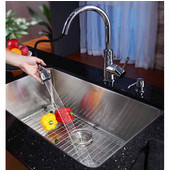 30'' Undermount Single Bowl 16 Gauge S/S  Kitchen Sink with NoiseDefend™ Soundproofing