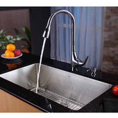 32'' Undermount Single Bowl 16 Gauge S/S  Kitchen Sink with NoiseDefend™ Soundproofing