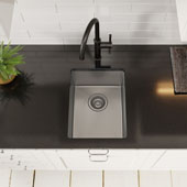 Standart PRO™ 14'' 16 Gauge Undermount Single Bowl Stainless Steel Kitchen Bar Sink 14''W x 18''D x 8''H