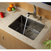 23'' Undermount Single Bowl 16 Gauge S/S  Kitchen Sink with NoiseDefend™ Soundproofing