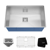 Pax™ Zero Radius 28-1/2'' Handmade Undermount Single Bowl 16 Gauge S/S  Kitchen Sink with NoiseDefend™ Soundproofing