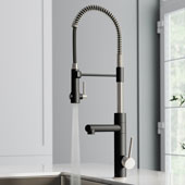 Artec Pro™ Spot Free Finish 2-Function Commercial Style Pre-Rinse Kitchen Faucet with Pull-Down Spring Spout and Pot Filler Stainless Steel/Matte Black