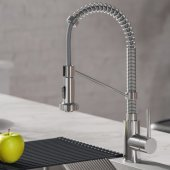 KRAUS Bolden™ Single Handle 18'' Commercial Kitchen Faucet with Dual Function Pull-Down Sprayhead in Chrome Finish