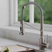 Bolden™ Single Handle 18'' Commercial Kitchen Faucet with Dual Function Pull Down Sprayhead in Spot Free Stainless Steel Finish