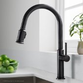 Sellette™ Single Handle Pull Down Kitchen Faucet with Dual Function Sprayhead in Oil Rubbed Bronze Finish