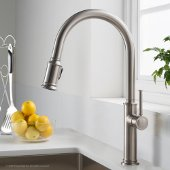 Sellette™ Single Handle Pull Down Kitchen Faucet with Dual Function Sprayhead in all-Brite™ Spot Free Stainless Steel Finish