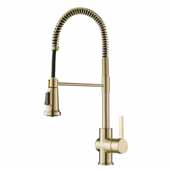 Britt Commercial Style Kitchen Faucet in Spot Free Antique Champagne Bronze