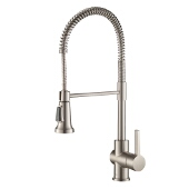 Britt™ Single Handle Commercial Kitchen Faucet with Dual Function Sprayhead in all-Brite™ Spot Free Stainless Steel Finish