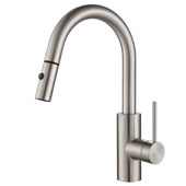 Oletto™ Single Handle Pull Down Kitchen Faucet in all-Brite™ Spot Free Stainless Steel Finish, 2-1/2''W x 8-3/4''D x 15-3/4''H