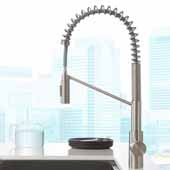 Oletto™ Spot Free Single Handle Pull Down Commercial Kitchen Faucet in all-Brite™ Stainless Steel Finish, Faucet Height: 21-3/4'', Spout Reach: 9-1/4''