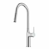 KRAUS Oletto Tall Pull-Down Single Handle Kitchen Faucet in Chrome, 4-3/8'' W x 10-1/4'' D x 19-3/4'' H