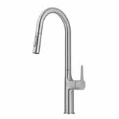 KRAUS Oletto Tall Pull-Down Single Handle Kitchen Faucet in Stainless Steel, 4-3/8'' W x 10-1/4'' D x 19-3/4'' H